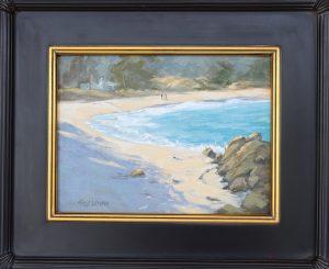 Sibyl Johnson, winter on Monastery Beach