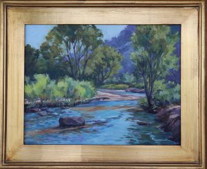 Julia Seelos with Mount Carmel Creek